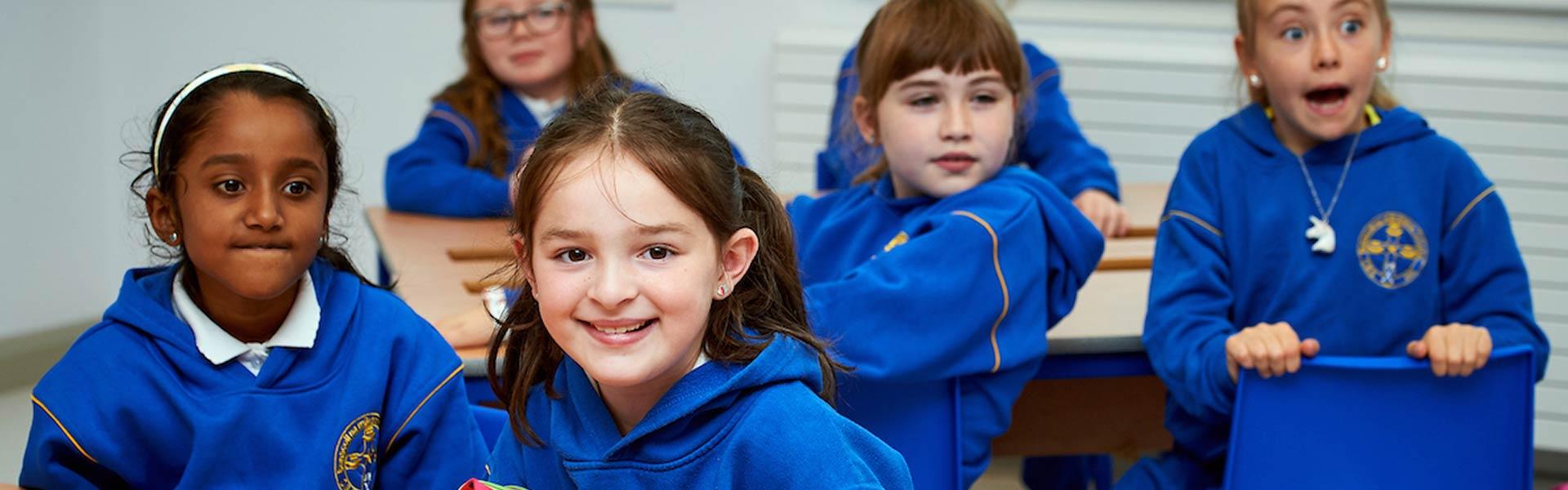CBS pupils in a classroom